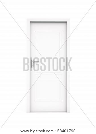 Closed White Door