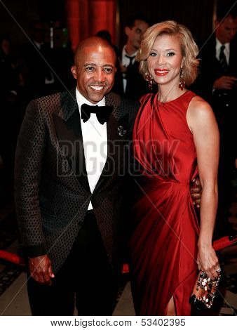 NEW YORK-SEP 17: Record executive Kevin Liles (L) and Erika attend the 14th annual New Yorkers For Children Fall Gala at Cipriani 42nd Street on September 17, 2013 in New York City