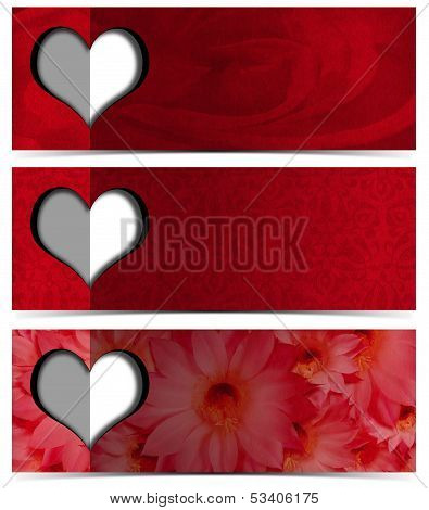 Three Romantic Banners
