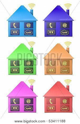 house telecomunication icon