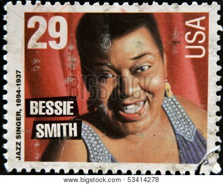 UNITED STATES OF AMERICA - CIRCA 1994: stamp printed in USA shows jazz singer Bessie Smith