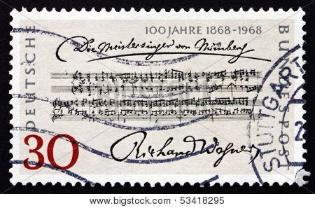 Postage Stamp Germany 1968 Opening Bars, Richard Wagner