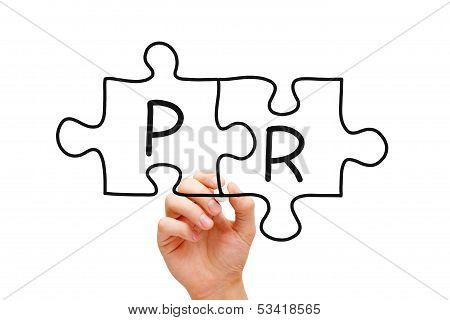 Pr Puzzle Concept