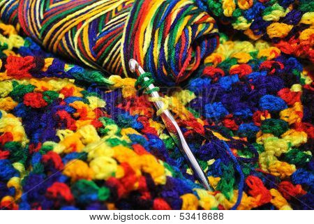 Crochet with Primary Colored Yarn