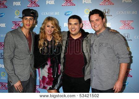 LOS ANGELES - NOV 4:  Carlito Olivero, Paulina Rubio, Carlos Guevara, Tim Olstad at the 2013