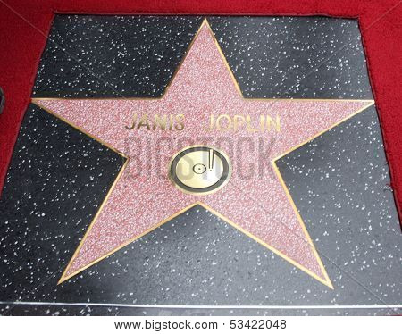 LOS ANGELES - NOV 4:  Janis Joplin WOF Star at the Janis Joplin Hollywood Walk of Fame Star Ceremony at Hollywood Blvd on November 4, 2013 in Los Angeles, CA