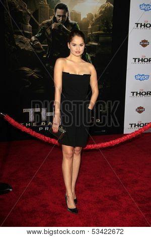 LOS ANGELES - NOV 4:  Debby Ryan at the Thor: The Dark World' Premiere at El Capitan Theater on November 4, 2013 in Los Angeles, CA