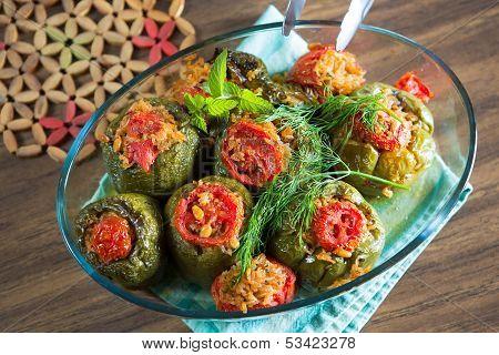 Turkish Stuffed Green Pepper Dolma's