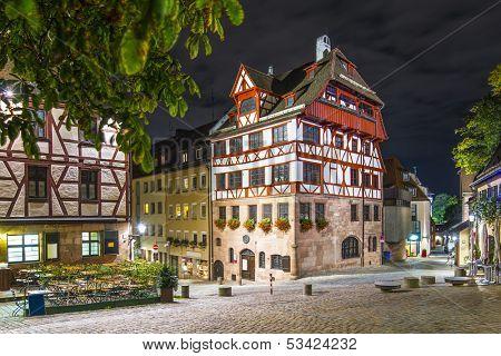 Albrecht Durer House in Nuremberg, Germany.