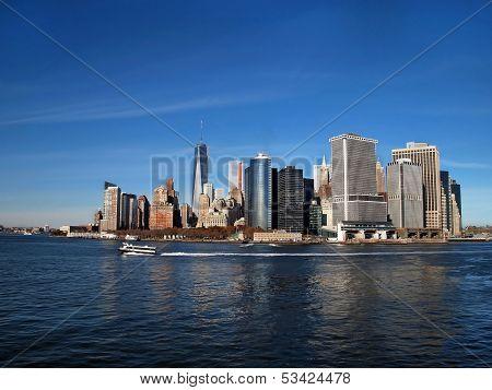 Lower Manhattan Along Waterfront