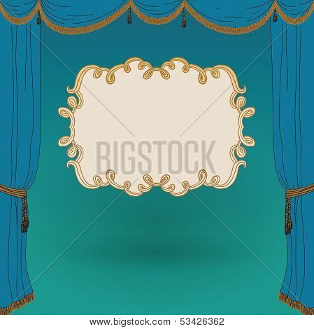 vector illustration of stage curtains