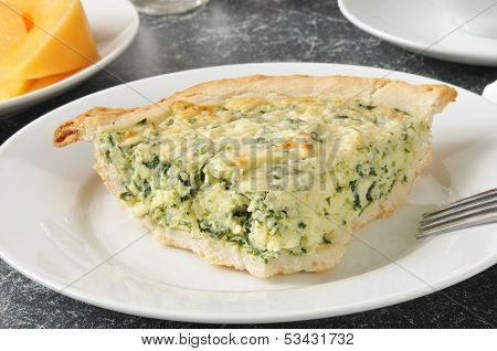 Spinach Quiche With Cantaloupe