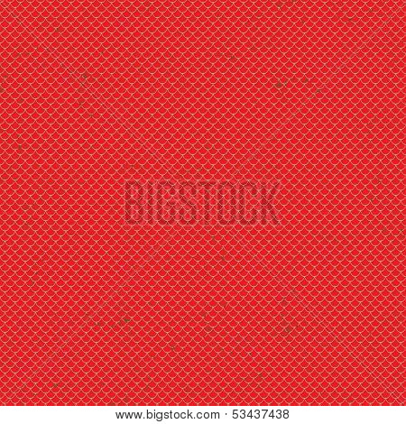 Seamless terracotta roof tile vector pattern