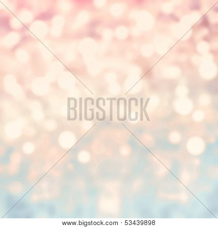 Glittering Lights Festive Background With Texture. Abstract Christmas Twinkled Bright Background Wit