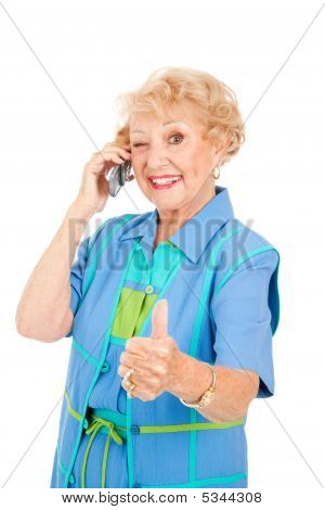 Usuario de teléfono móvil Senior - buena recepción