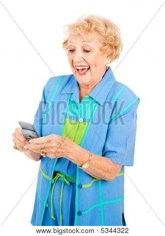 Senior Woman Loves Texting
