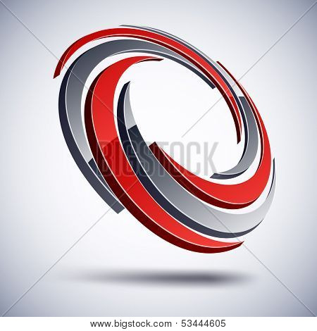 Vector illustration of 3D impeller abstract business icon.