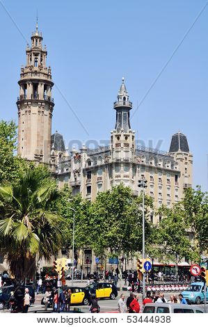 Barcelona City Center In Spring