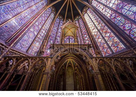 Sainte Chapelle, ile de la cite, Paris, France