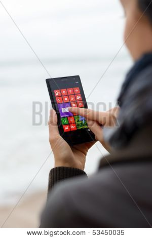Woman Using Nokia Lumia 1020