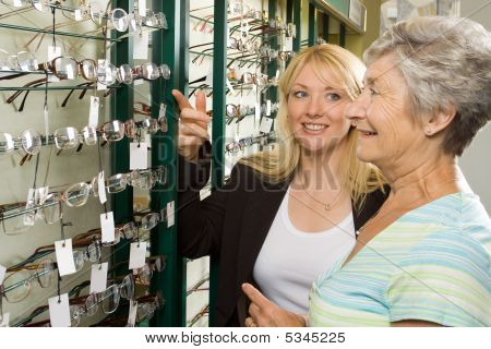 Choosing Glasses At The Optician