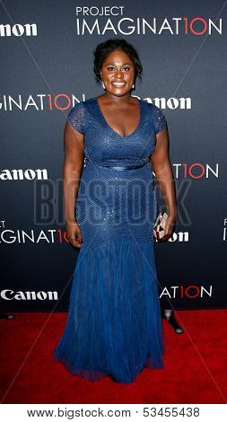 NEW YORK- OCT 24: Actress Danielle Brooks attends the global premiere of Canon's