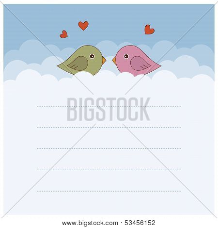 Two birds. Vector illustration.