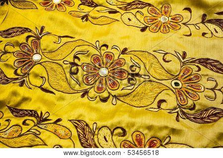 Yellow Satin Textile