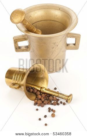 Mortars with spices