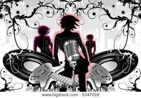 Music Style Background