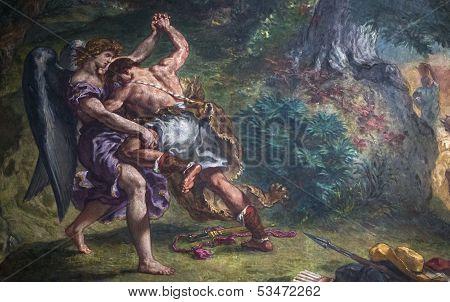 Delacroix frescoes, Eglise Saint Sulpice, Paris, France