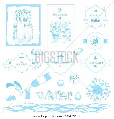 water labels,