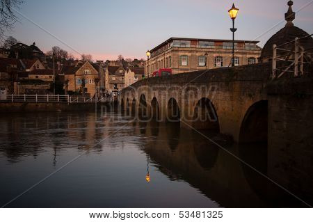 Town Bridge In Bradford On Avon