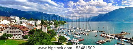 Swiss Lake Panorama