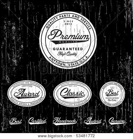 Vector retro badge and label set. Great for vintage packaging and labels. Easy to edit