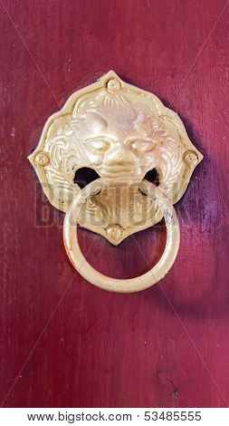 Old Style Of Thai Door