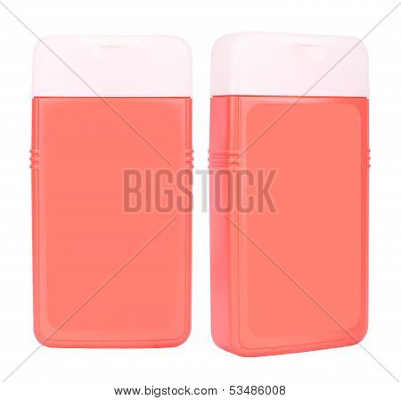 Shampoo Red Containers Isolated