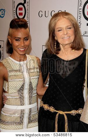 LOS ANGELES - NOV 4:  Jada Pinkett Smith, Gloria Steinem at the Equality Now Presents Make Equality Reality at Montage Hotel on November 4, 2013 in Beverly Hills, CA