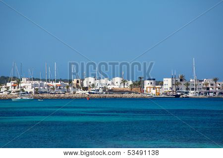 La Savina Sabina village and marina in Formentera Balearic Islands