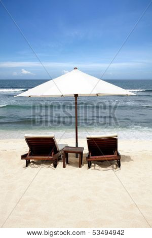 Beach Chair at Bali Island, Indonesia