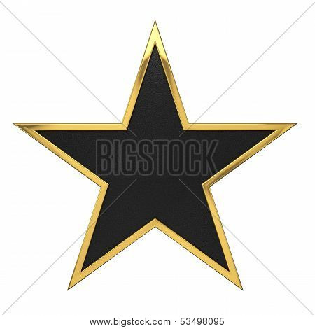 Golden Star Award With Black Blank Space