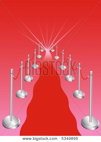 Abstract Red Carpet