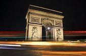 picture of charles de gaulle  - The magnificent Arc De Triomphe in Paris - JPG
