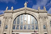 picture of gare  - The main entrance to Gare du Nord station in Paris - JPG