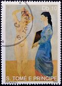 SAO TOME AND PRINCIPE - CIRCA 1990: A stamp printed in Sao Tome shows The toilet by Pablo Picasso