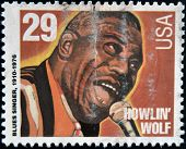 UNITED STATES OF AMERICA - CIRCA 1994: stamp printed in USA shows blues singer Howlin Wolf