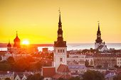 stock photo of olaf  - Sunset in Tallinn - JPG