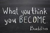 stock photo of blackboard  - famous Buddha quote  - JPG