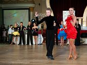 MOSCOW - OCTOBER 20: Unidentified teens age 14-17 compete in jive dance on the Artistic Dance Awards