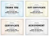 image of certificate  - Vector set of retro gift certificates - JPG